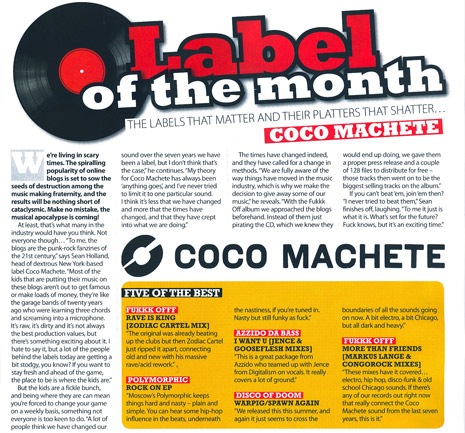 IDJ - Coco Machete - Label Of The Month